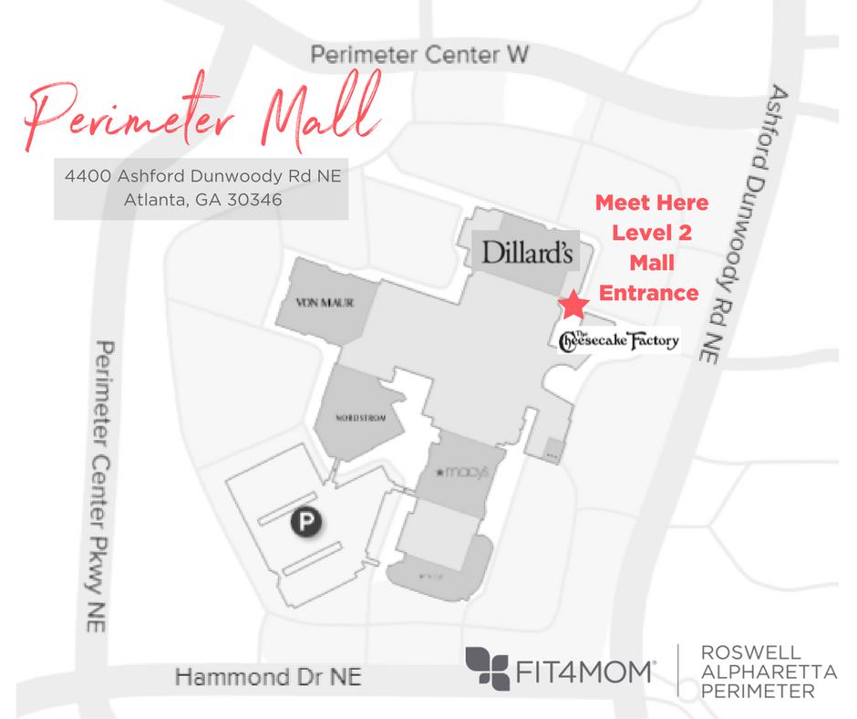 Map Of Georgia Mall.Perimeter Mall